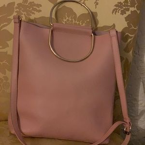 Handbags - Blush Bucket Bag - Large gold ring handle